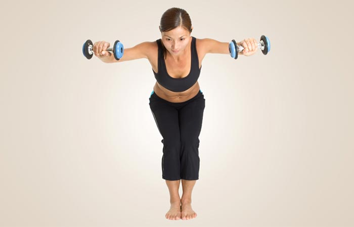 rear lateral raise pose