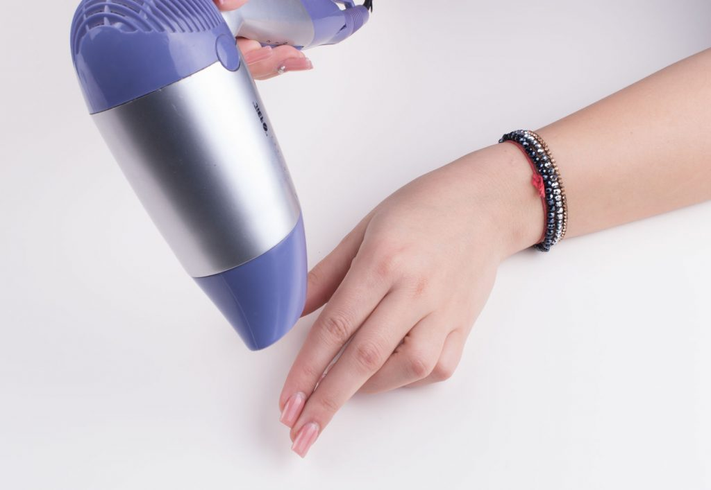 Nail Dry with Dryer